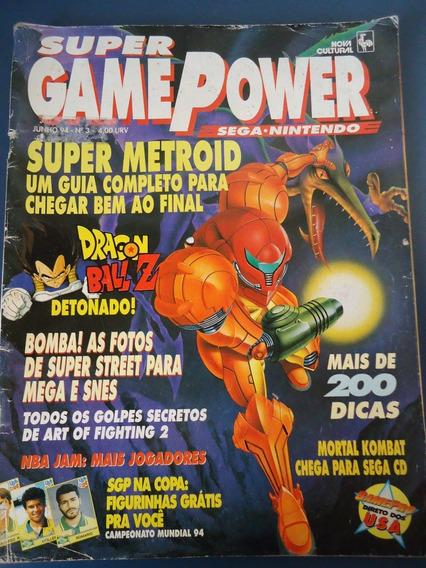 Revista Super Gamepower 3 - Super Metroid*dragon Ball Z