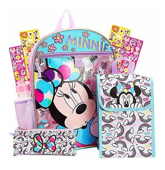 Set Escolar De La Mochila De Disney Minnie Mouse 6 Pc ~ El P