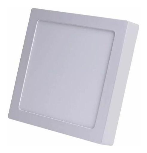 Painel Plafon 24w Luminaria Led Quadrado Sobrepor