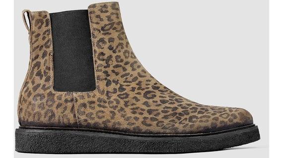 Botas Hombre Allsaints Leopardo Cuero Talle 41