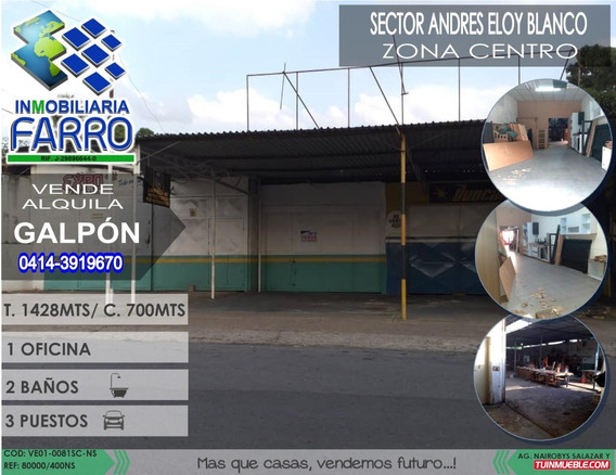 Venta De Galpon En El Sector Centro Ve01-0081sc-ns