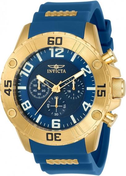 Relogio Invicta Original Pro Diver 22699 Banho De Ouro 18k