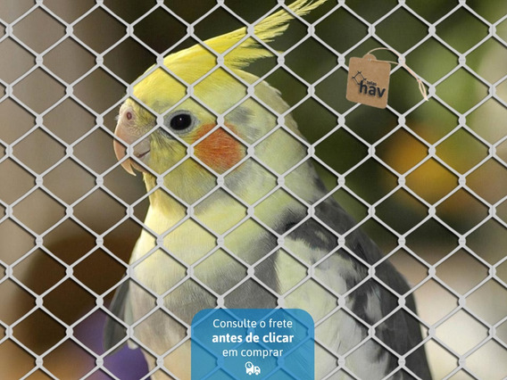 Tela De Arame Viveiro Aves Reforçada Belgo Fio 18 Malha 20mm
