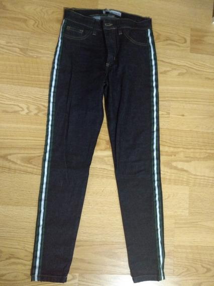 Jeans Azúl Oscuro Marca Sybilla Chupín Talle 40 _24 Nuevo