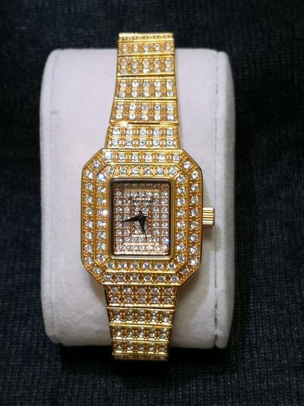 Relógio Feminino Japan Quartz - Cristal Swarovski - Swk004