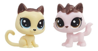 Littlest Pet Shop Pack 2 Figuras Amigos De Fiesta - Gatos...