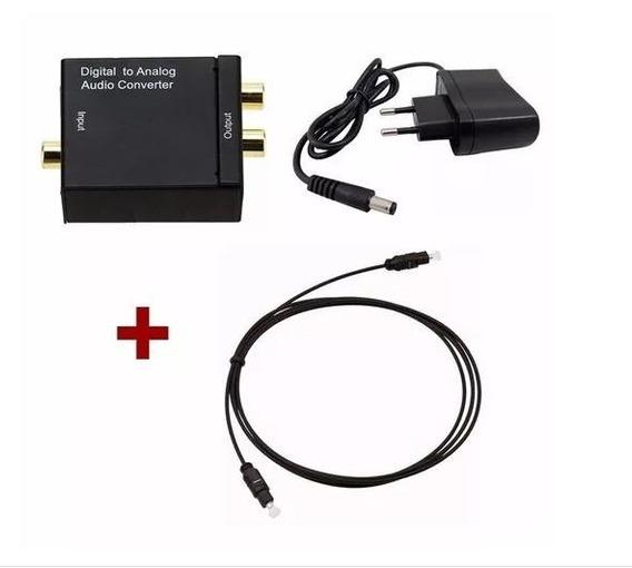 Kit Conversor Áudio Digital P/ Rca Analógico