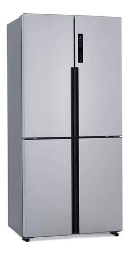 Heladera inverter no frost Patrick PQP458BKRSS0  acero inoxidable con freezer 459L 220V - 240V