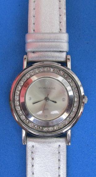 Relógio Mondaine Feminino Caixa Metal Ornada 40 Strass