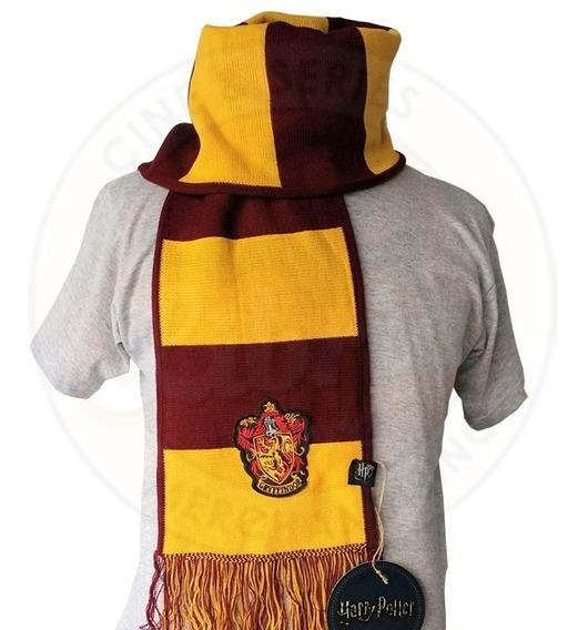 Bufanda De Gryffindor Original Rayada C/escudo Harry Potter