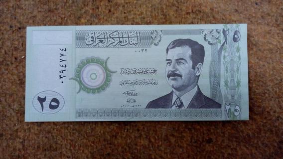 Nota De 25 Dinar Sadam Hussein Estampado