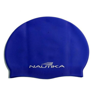 Touca Natação Adulto Hidroginática Silicone Nautika Azul