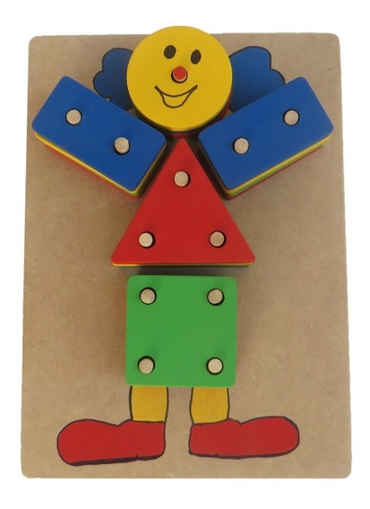 Boneco Palhaço Geométrico Educativo