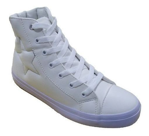 Tenis Super Star Basic Cano Medio Napa Branco De R$149,90