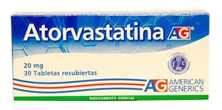 Atorvastatina 20 Mg X 30 Tabletas A.g