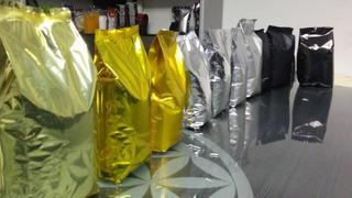 Bolsas Metalizadas Doradas (aluminizadas) Para Café 1/4kg