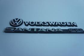 Kit Emblemas Volkswagen Vw Mala Santana Cd 83 À 90 + Brinde