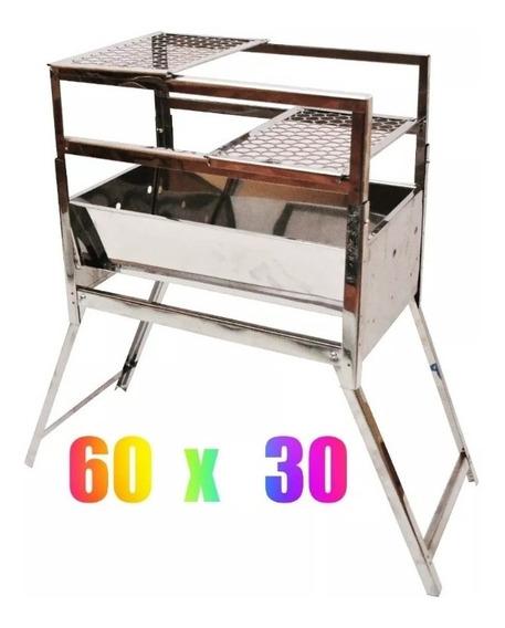 Churrasqueira Inox 3 Niveis Com Duas Grelhas/como Na Imagem.