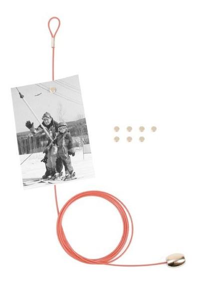 Kikkerland Sujetadores Foto Móvil Rojo Con 6 Imanes