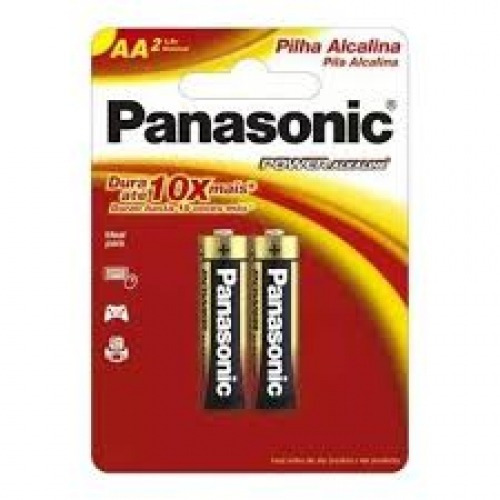 Pilha Alcalina Aa C/ 02 Uni - Panasonic