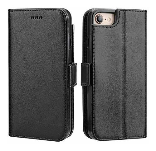 Vaburs iPhone 7 Flip Case iPhone 8 Billetera Con Tarjetero,