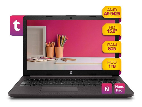 Notebook Hp A9 9425 1tb Hdd + 8gb Ram + Windows 10