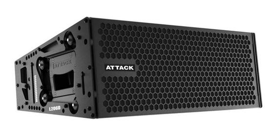Caixa De Som Amplificada Attack Line Array Vertcon L 206d