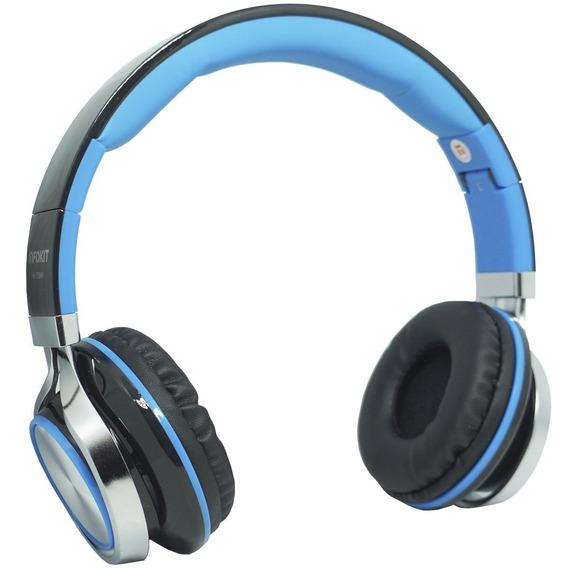 Fone Ouvido Headfone C/ Fio P2 Bass Celular Azul Microfone