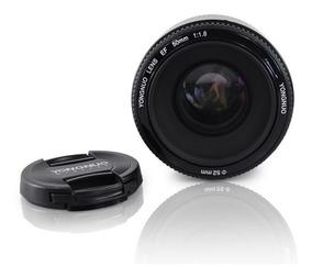 Lente Ef 50mm F1.8 Yongnuo Para Canon + Lens Pen Brinde