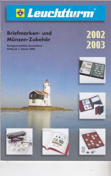 Novo Catálogo De Filatelia- Material Alemão Marca Leuchtturm