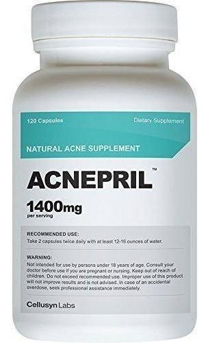 Suplemento Natural Del Acne Cellusyn Acnepril, 1400 Mg, 120