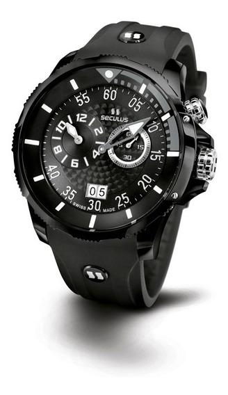Relógio Seculus Sports Phantomas Swiss 4505422silbbgr