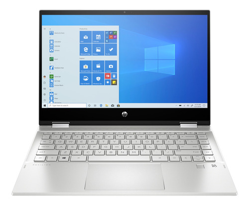 "Imagen 1 de 7 de Notebook HP Pavilion x360 14-DW0062LA plata táctil 14"", Intel Core i5 1035G1  8GB de RAM 256GB SSD, Intel UHD Graphics 1920x1080px Windows 10 Home"