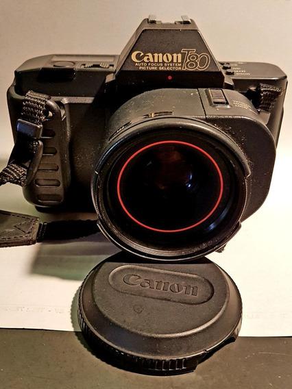 Canon T80 Com Lente 50mm 1.8