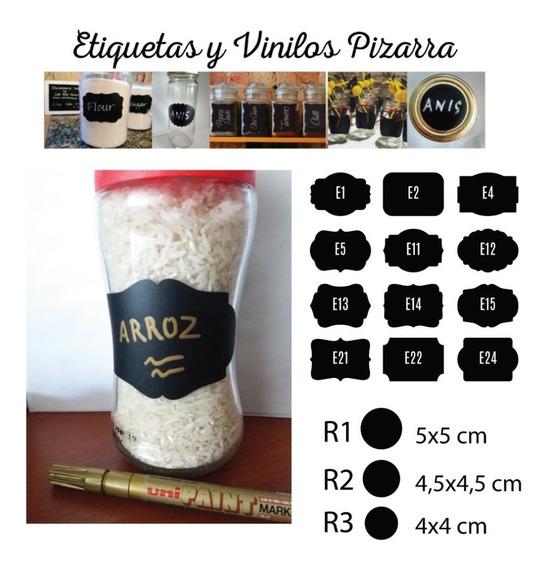 50 Etiquetas Pizarron 6x4 Cm Pizarra Lavables Para Frascos