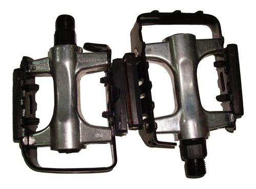 Imagen 1 de 4 de Pedales Mtb Feimin Fp-976 Aluminio Bolillas C/reflector