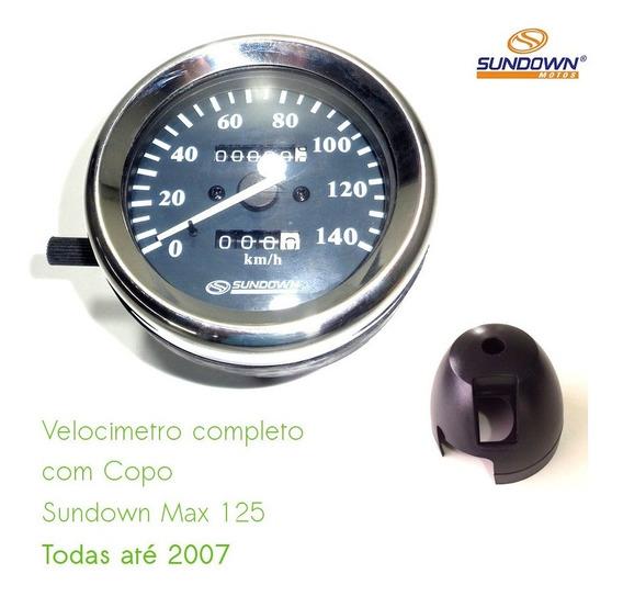 Velocímetro Completo Com Copo Moto Sundown Max 125 2004/05