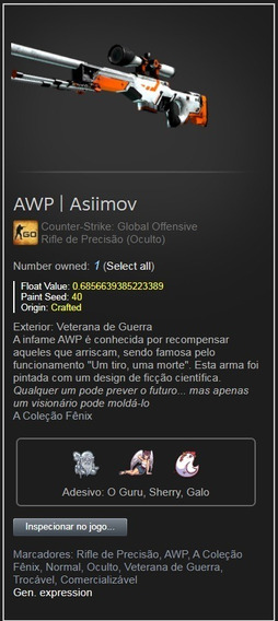 Skin Cs Go Awp | Asiimov
