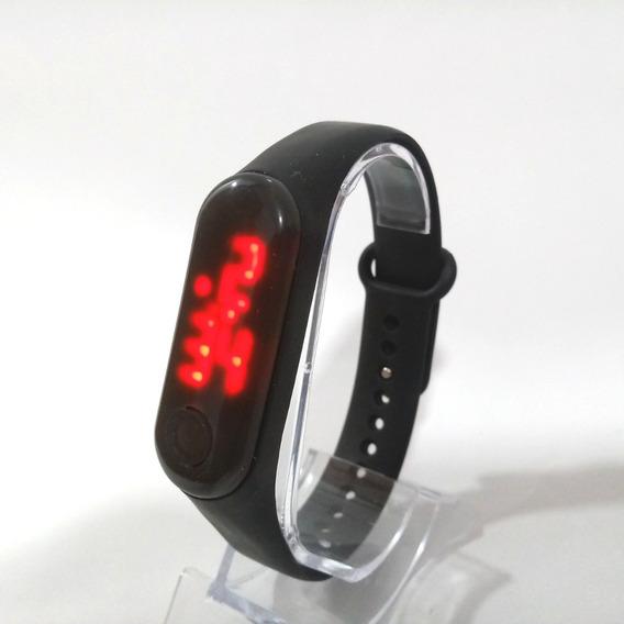 Relógio Pulseira Digital Led Cores Bracelete Várias Cores