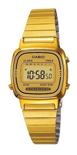 Relógio Casio Vintage Dourado La670wga-9df (mini)