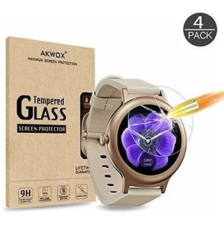 Akwox (4pack) Lg Watch Style Protector De Pantalla, Protecto