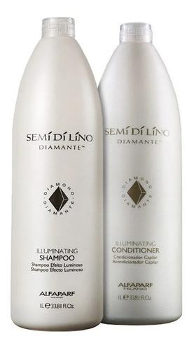 Imagem 1 de 1 de Kit Shampoo E Condicionador Alfaparf Semi Di Lino Diamante