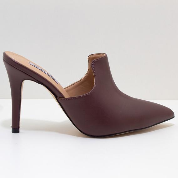 Mule Bico Fino Com Salto Feminino Scarpin
