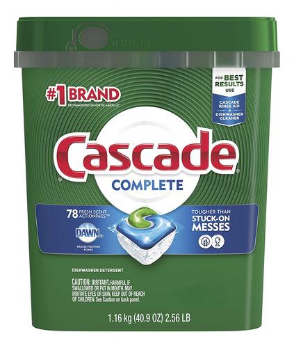 Imagen 1 de 4 de Detergente Con Aroma Fresco Cascade 1.16 Kg
