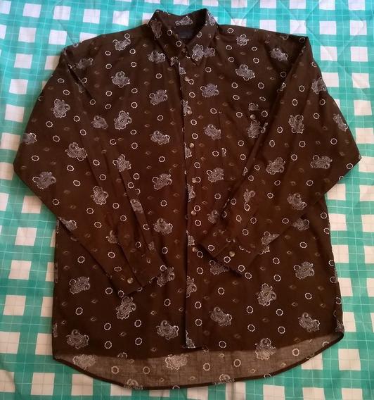 Camisa Marrón De Caballero, Marca Mango, Talla M