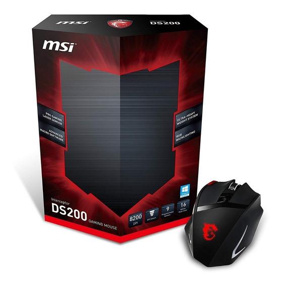 Mouse Gamer Usb Msi Ds200 8200dpi Laser Interceptor