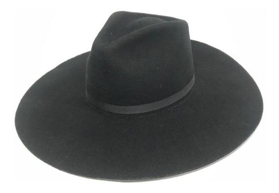 Chapéu Gaúcho Ginete Mundial Pelo E Lã Preto Aba 10,5