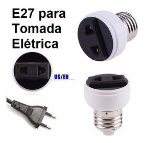 Kit Com 3 Soquetes E27 Adaptador Para Tomada Elétrica