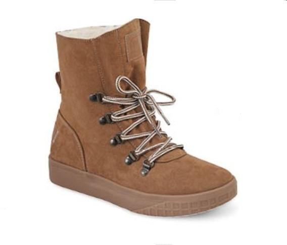 Calzado Zapato Dama Mujer Moda Camel Bota Tipo Ugg