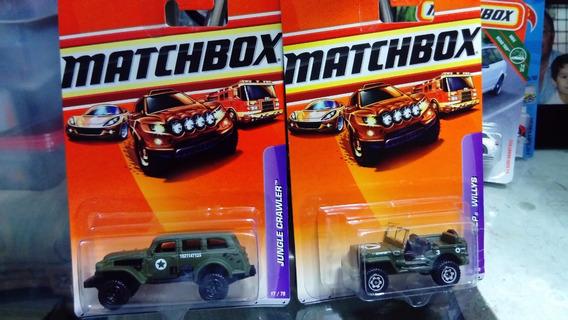 Matchbox Set De 3 Piezas Vehiculos Militares. 1/64